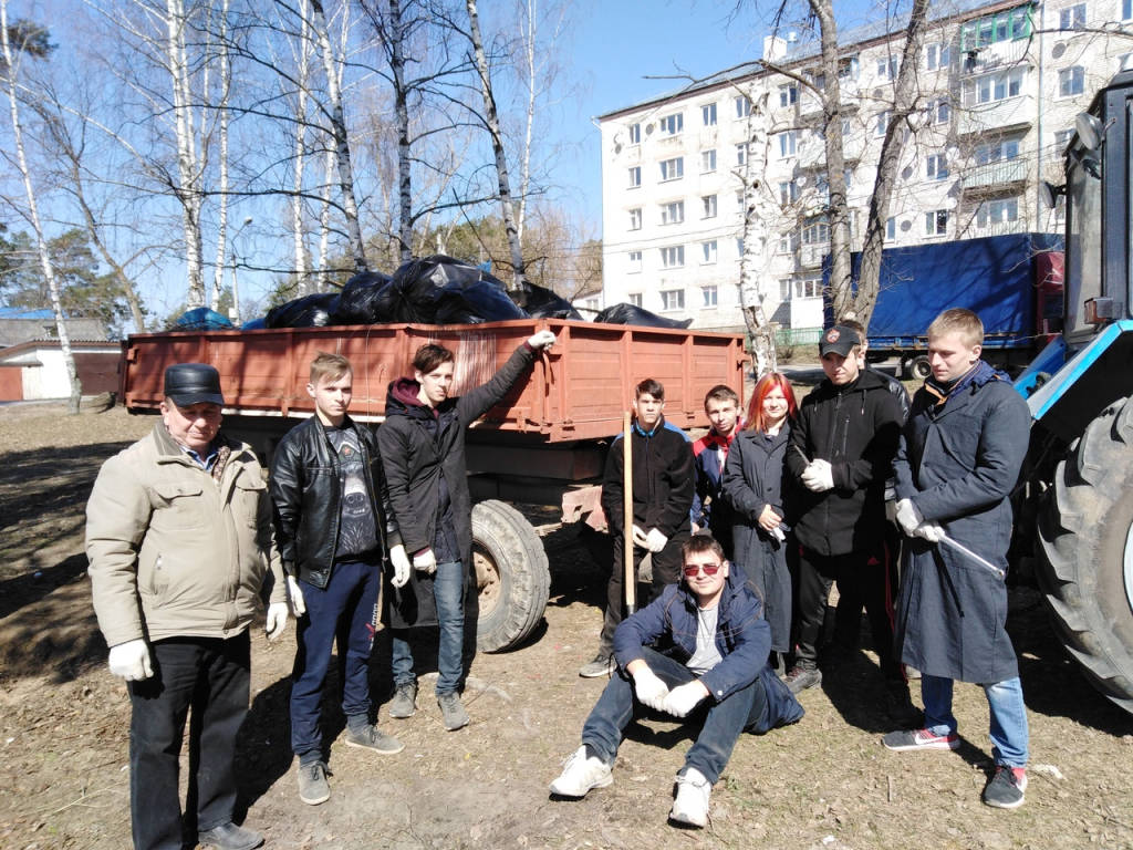 Уборка мусора в Затоне