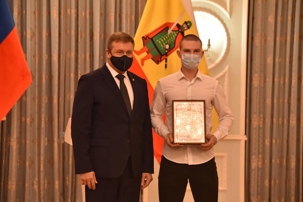 Вручения свидетельств о назначении именных стипендий Губернатора Рязанской области студентам техникума.