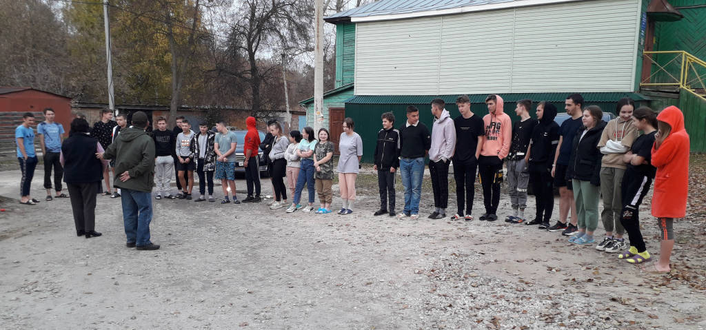 Тренировка по эвакуации студентов